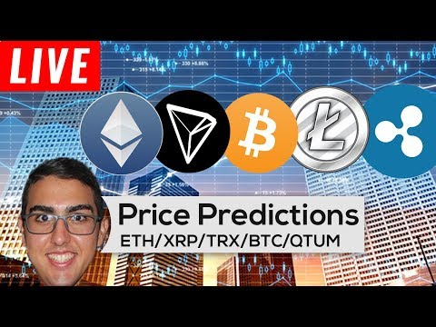Price Predictions: Ethereum ($ETH), Ripple ($XRP), Tron ($TRX), Bitcoin ($BTC), Qtum ($QTUM), & More