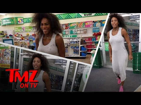 Serena Williams Takes Her Million Dollar Bump To The Dollar Tree | TMZ TV