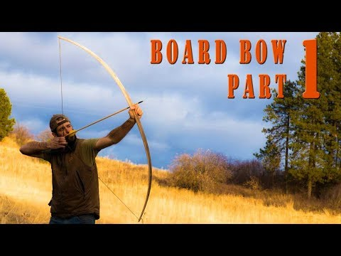 Woodworking – building a protracted bow from a Board component 1