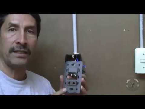 Como Instalar Un Interruptor Y Enchufe En Una Sola Caja Youtube