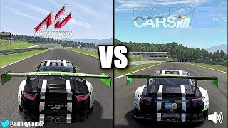 Project CARS 2 vs Assetto Corsa - Porsche 911 GT3R @ Red Bull Ring - Graphics and sound
