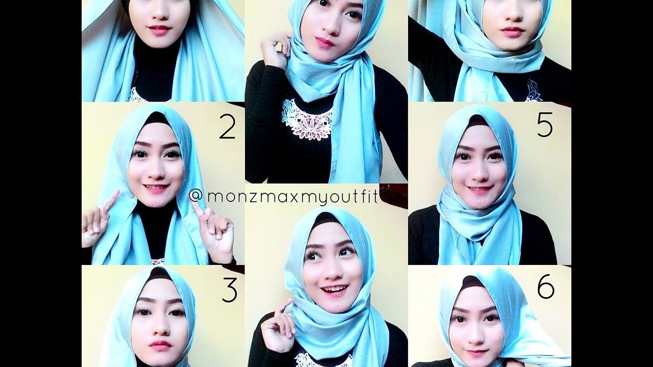 Cara Memakai Jilbab Pashmina 3 Tutorial Simple Youtube
