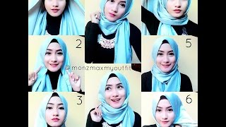 Cara Memakai Jilbab Pashmina - 3 Tutorial SIMPLE