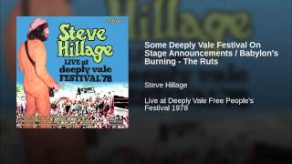 Some Deeply Vale Festival On Stage Announcements / Babylon