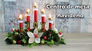 Centro de mesa navideño con tubos de cartón ESPECIAL NOCHE BUENA. Diario de Olga