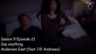 Grey's anatomy S9E21 - Say anything - Anderson East (feat Jill Andrews)