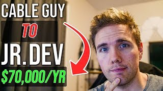 Cable Guy to Jr. Developer $19hr to $70,000/year  | Developer Stories #grindreel