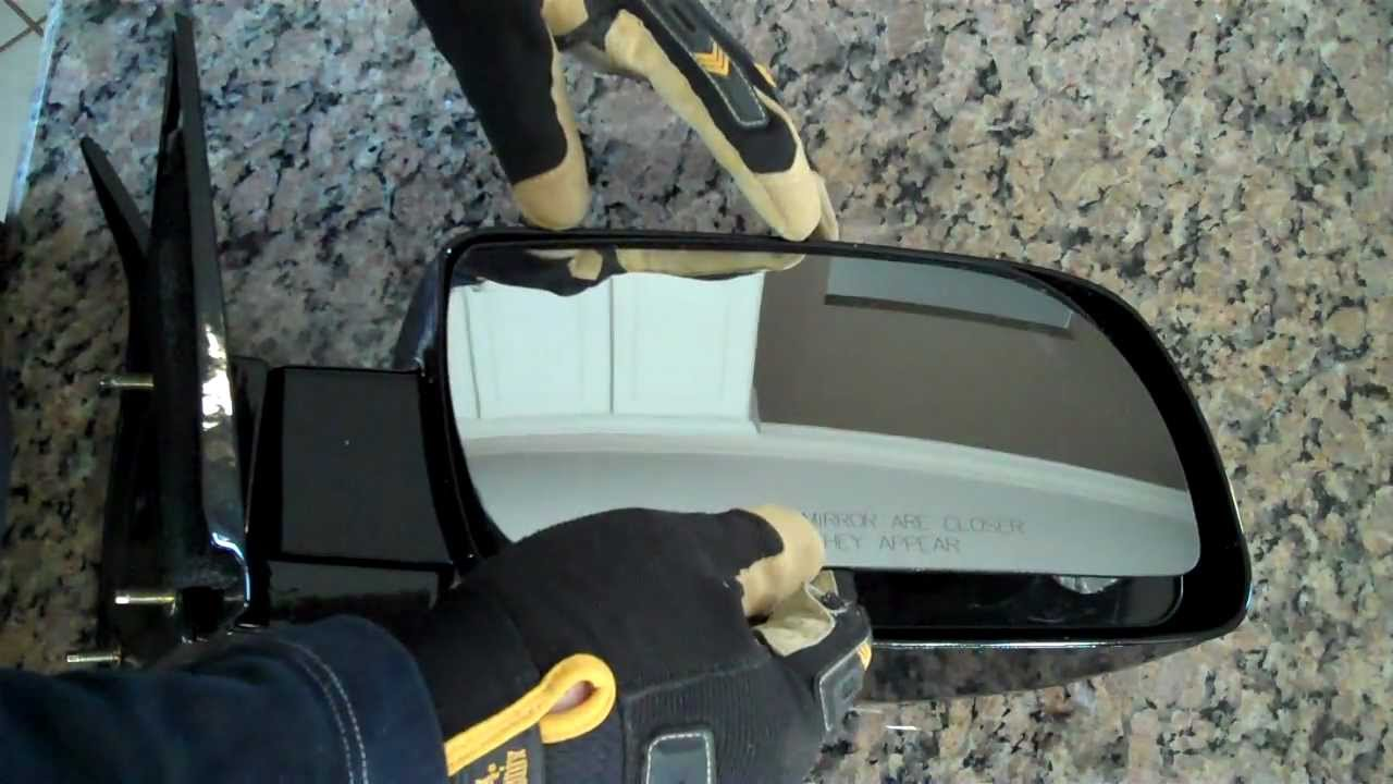 How To Repair And Replace A Broken Side Mirror Glass Diy Youtube