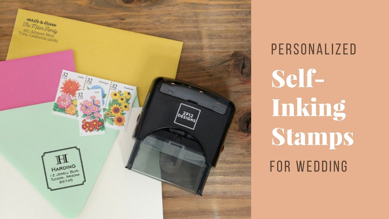 Personalized Self Inking Stamp For