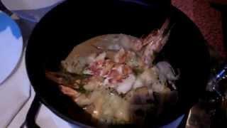 Dinning in Al Mahara - The Underwater Restaurant in Burj Al Arab (七星帆船飯店馬哈拉海底餐廳享用海鮮大餐)