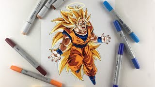 Drawing GOKU Super Saiyan 3