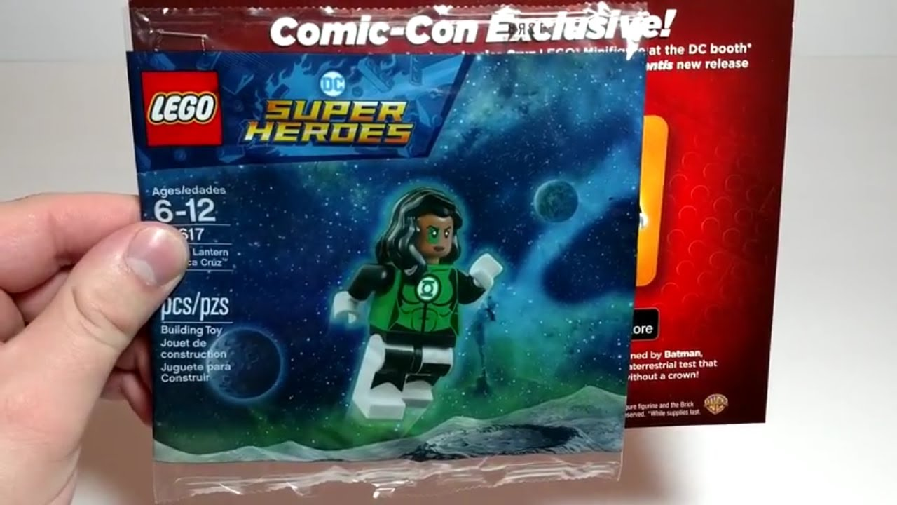 SDCC Comic Con 2018 Lego DC Green Lantern Jessica Cruz Mini Figure Exclusive