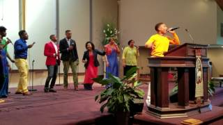"Caleb Alexander Carroll - Talented 14 yr old sings ""Intentional"" by Travis Greene LAM Sunday Worship"