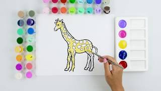 Learn Letters Color A Gift and Giraffe To Learn The Letter G Drawing For Kids Learn ABCs