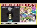 850 Diamonds Scout Summer Night Festa Banner & The Castle of Mirage Floor 41-60 (SAO Memory Defrag)