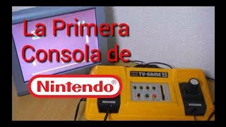 la primer consola de Nintendo: color tv game