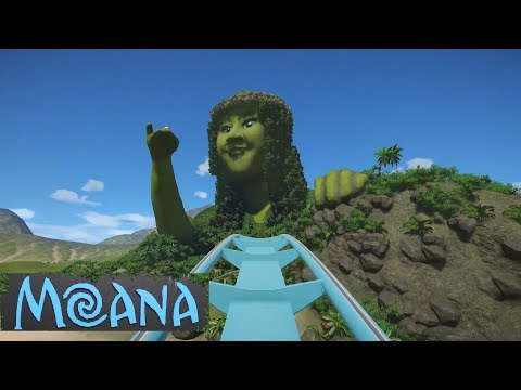 Planet Coaster - Making of Te Fiti (from Moana the Ride) |