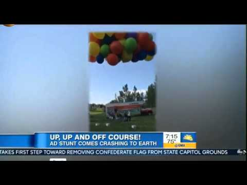 Man Lawn Chair Balloons FAIL VIDEO Canadian man arrested Flying Lawn Chair with Balloons