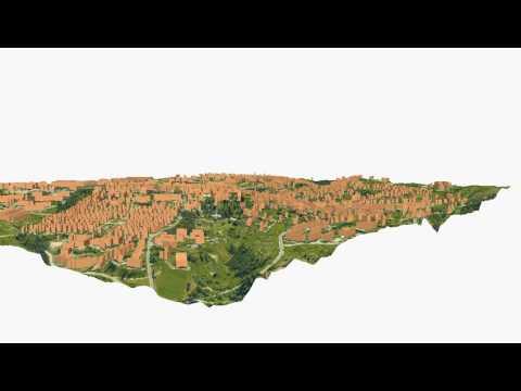 Cesis, Latvia - City Model Animation