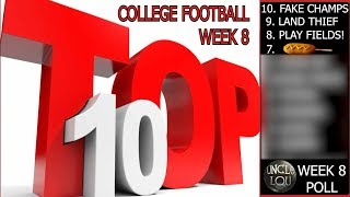 COLLEGE FOOTBALL POLL WEEK 8