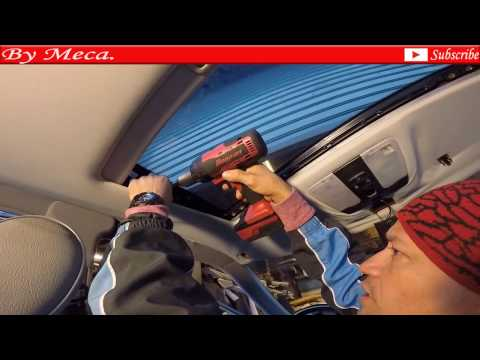 How to repair headliner, sunroof panel, sail panels in a Mercedes Benz part 1. leak