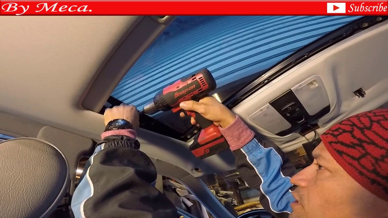 How to repair headliner, sunroof panel, sail panels in a Mercedes Benz part  1  leak