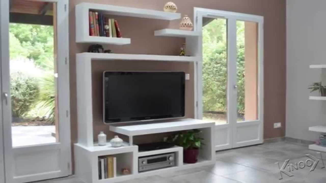 Diy a stylishtv stand youtube for Meuble tv armoire