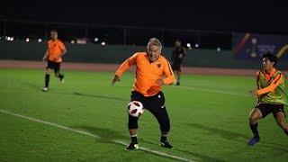 【鹿島アントラーズ】超絶テクニックは、健在!ミニゲームに、ジーコも参戦!〜FIFAクラブワールドカップ UAE 2018 特別編〜
