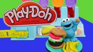 Cookie Monster Play-doh Hamburger Machine Burger Builder