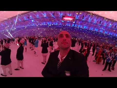 Ceremonia Inaugural. Fuegos Artificiales 360