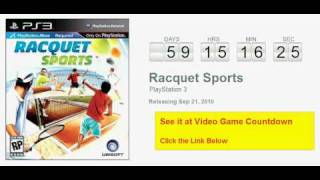 Racquet Sports PlayStation 3 Countdown