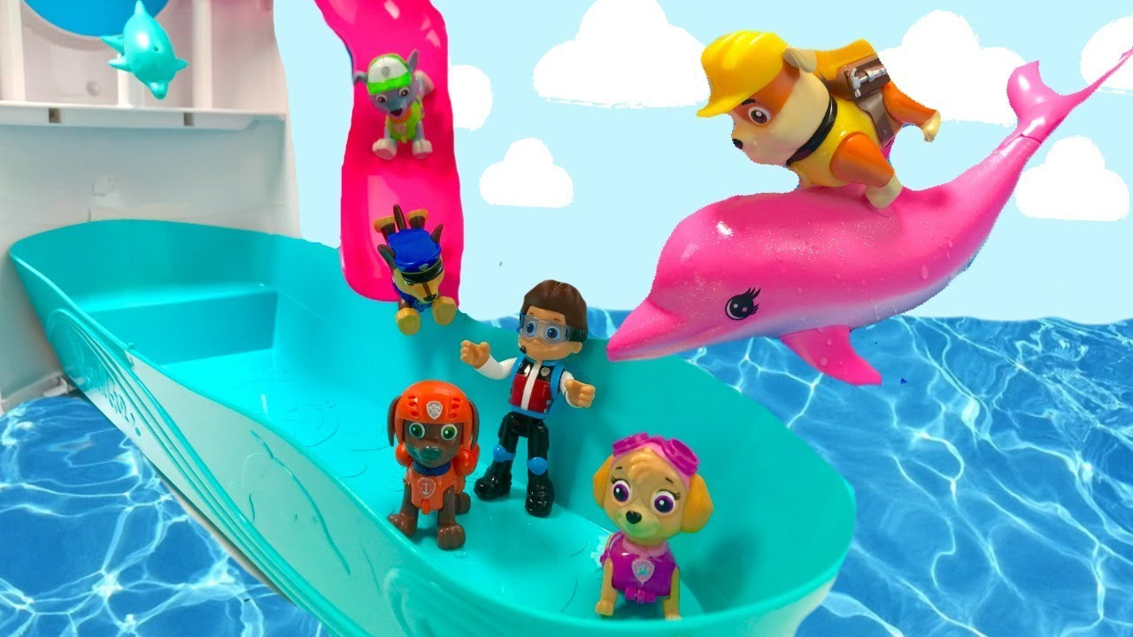 Fizzy Fun Toys: Paw Patrol Cruise Ship Pool Party Swim With Dolphins