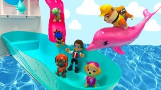 Paw Patrol Cruise Ship Pool Party Swim with Dolphins| Fizzy Fun Toys