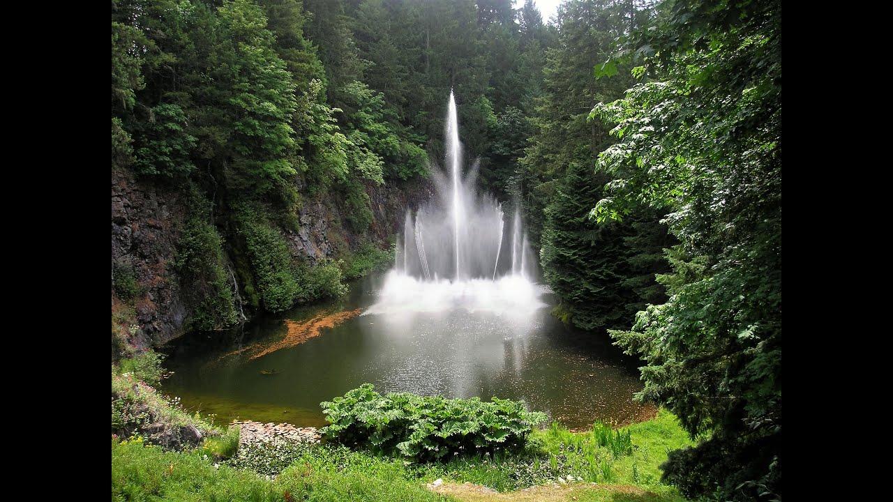 Vancouver jardines butchart youtube for Jardines butchart