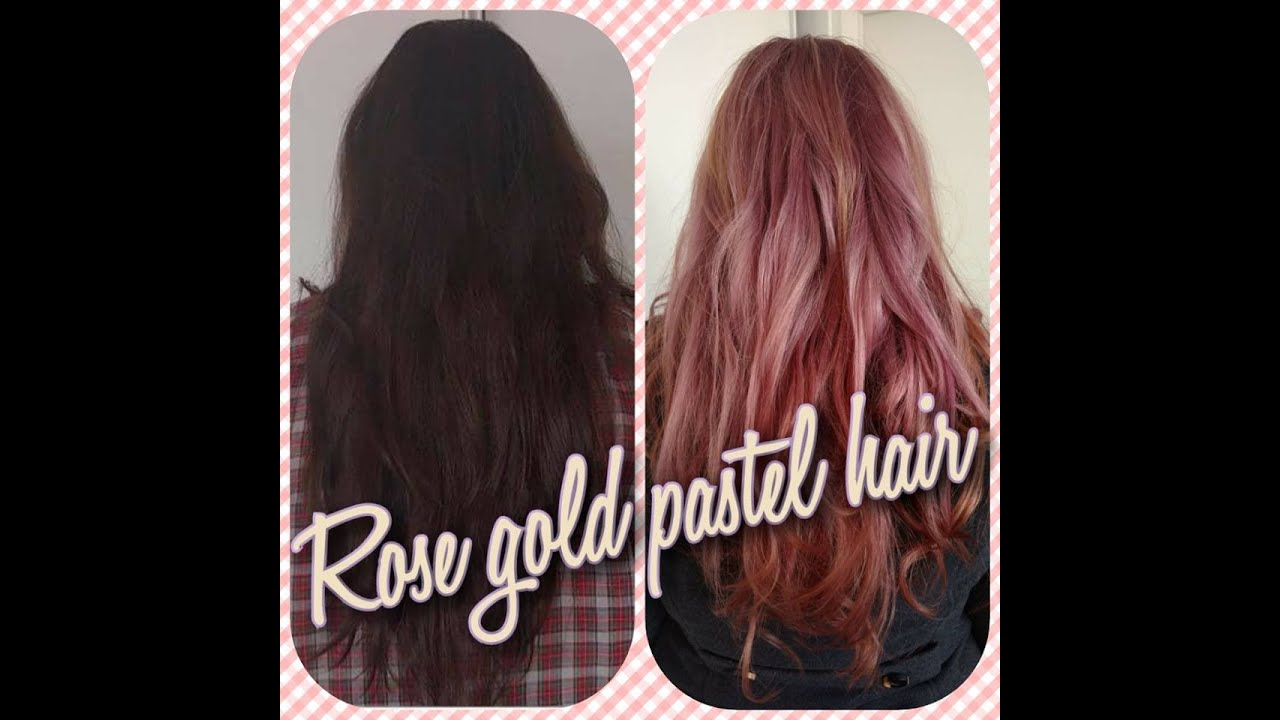 From Dark To Rose Gold Pastel Hair Schwarzkopf Youtube