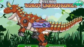 恐龙游戏 机械牛龙长颈龙镰刀龙组装集合