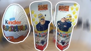 Minions Despicable Me 3 Kinder 8 Surprise Eggs from Minions Movie