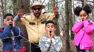 Police Dad Caught in the Woods! Kids Pretend Play
