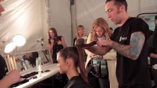 barex italiana at nyc fashion week monique lhuillier fall 2010 backstage