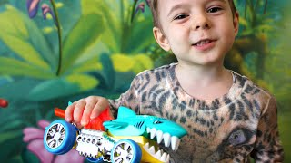 SHARK RIDE - lightening and dancing car.  Unboxing and review at Bogdan`s Show!