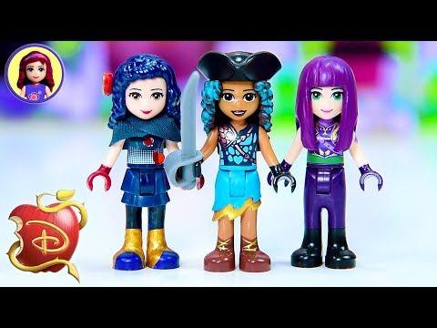 Disney Descendants 2 as Lego Minidolls 🎨Custom Doll Repaint Dress Up Craft DIY
