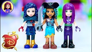 Disney Descendants 2 as Lego Minidolls 🎨Custom Doll Repaint Dress Up Craft DIY
