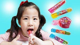 사탕은 같이 먹어야되요!! 서은이의 시크릿쥬쥬 립스틱 반지 사탕 엄마랑 먹기 Secret Jouju Rib and Ring Candy Toys