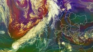 Storm Callum, Hurricane Leslie and Michael (remnants), Europe 2018, Satellite Loop