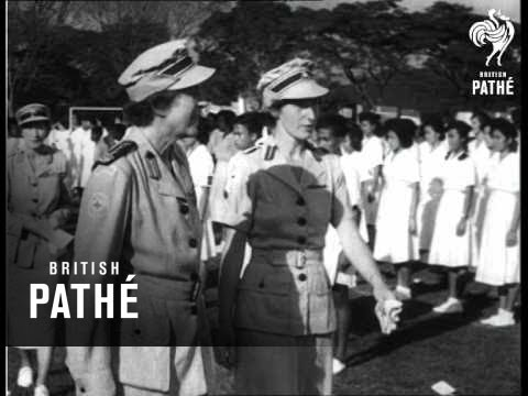 Malaya - Countess Visits Red Cross (1953)
