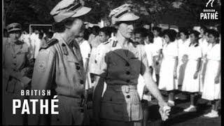 Malaya - Countess Visits Red Cross (1953)