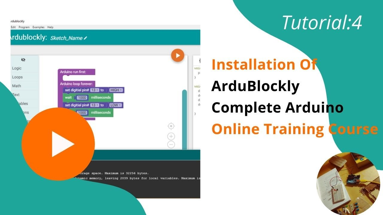 Arduino Block Based Coding: Learn Arduino without writing a