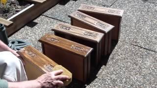 Restauration effet bois moderne sur mobilier / Restore wood modern effect on furniture