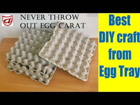 Best DIY craft from waste Egg tray | Home decor craft ideas | Waste material craft