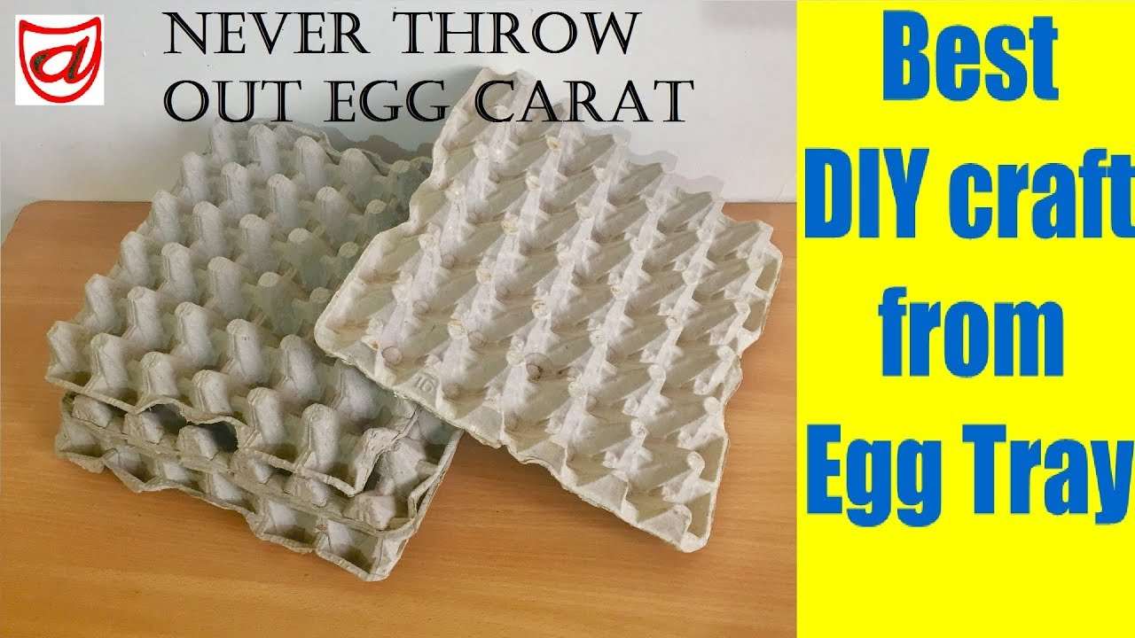 Best diy craft from waste egg tray home decor craft from for Egg tray craft